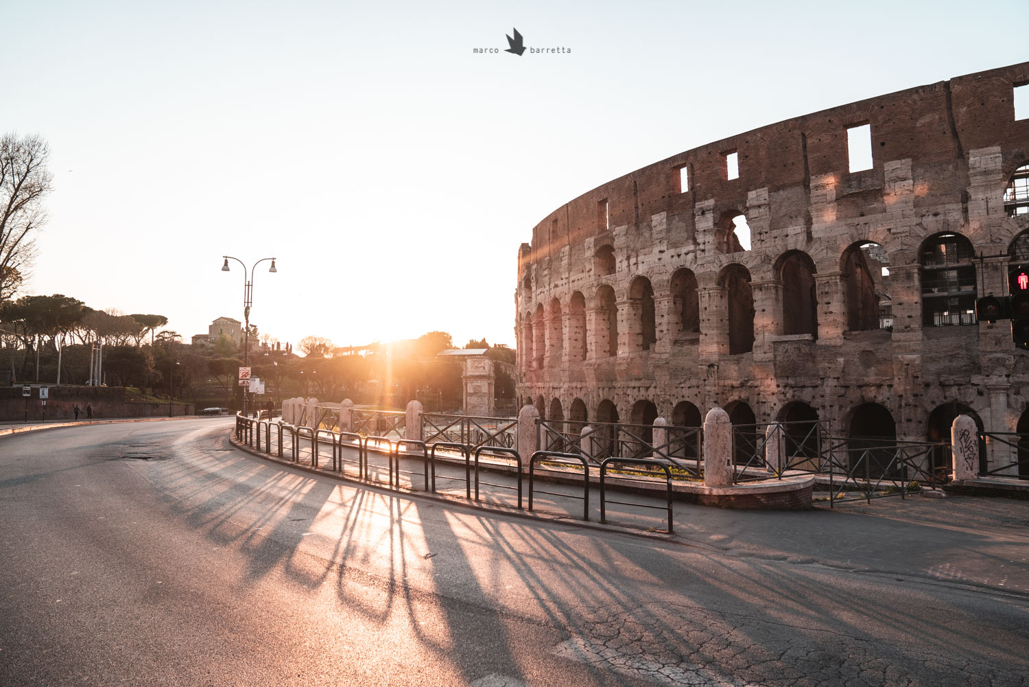 roma colosseo lockdown tramonto