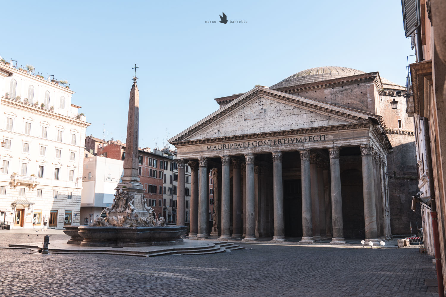 roma pantheon lockdown